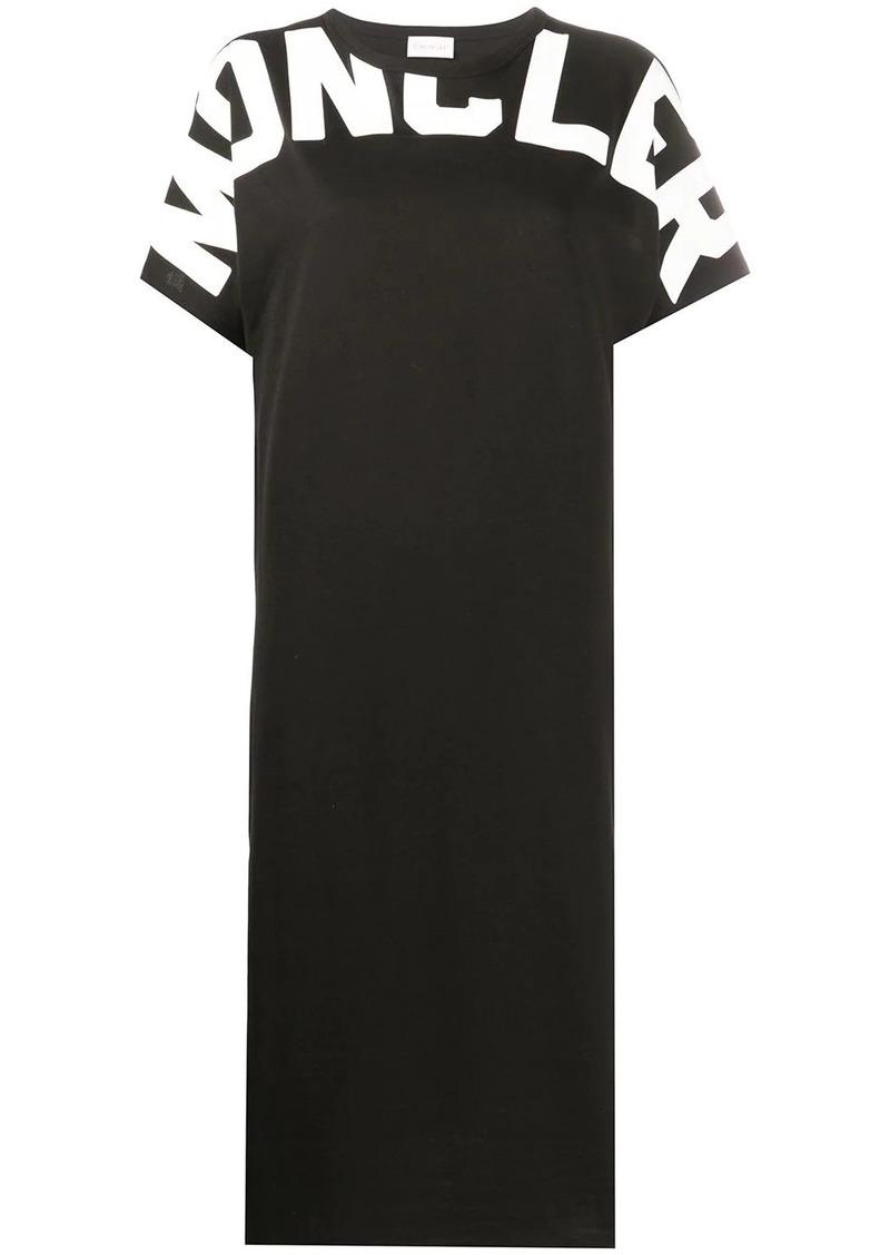 Moncler printed logo short-sleeved dress