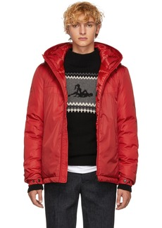 Moncler Red Down Montvernier Jacket