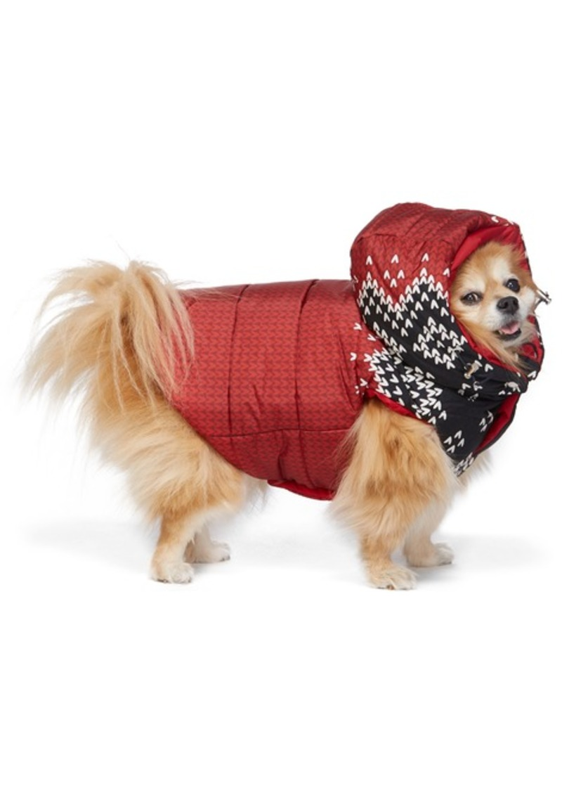 Moncler Reversible Red Poldo Dog Couture Edition Sweater Knit Jacket