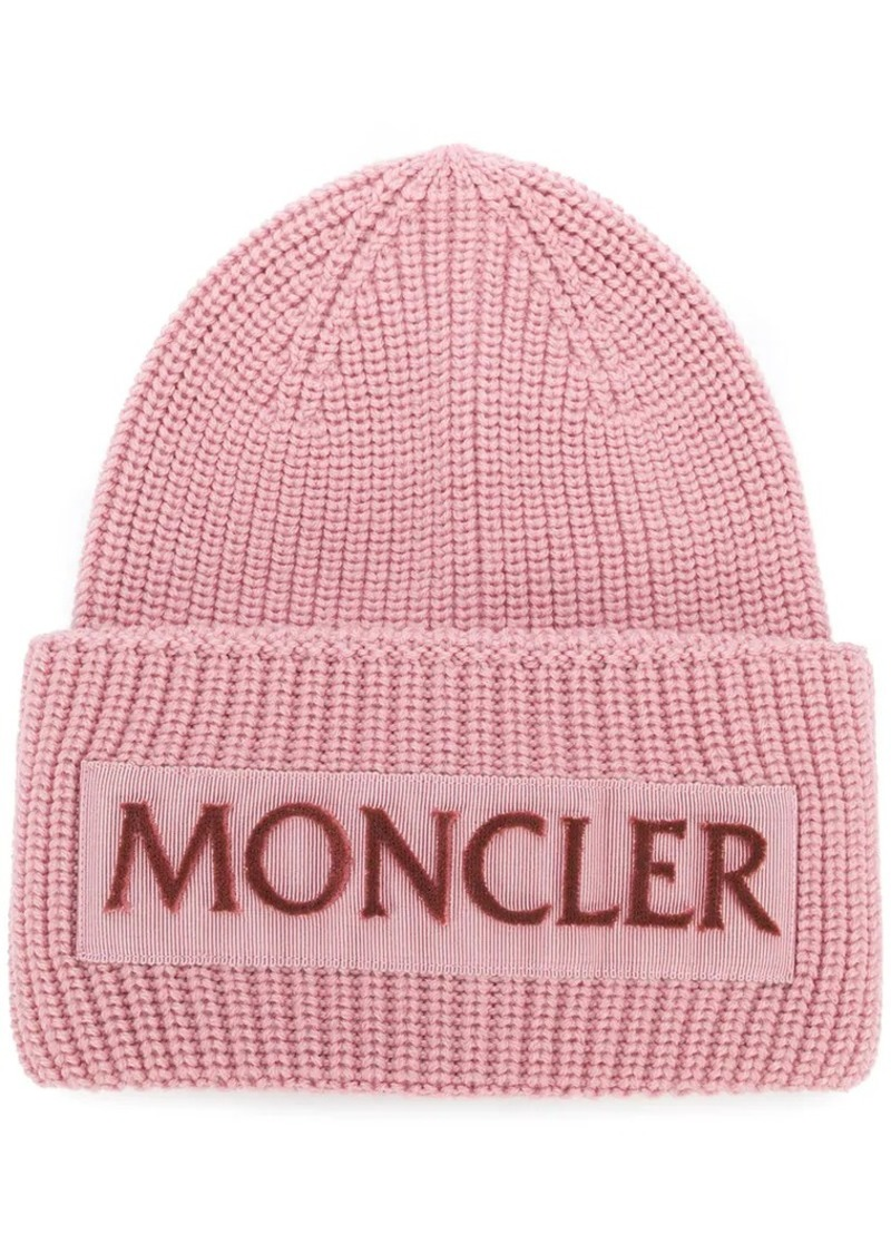 07308f6fa Moncler rib knit logo beanie