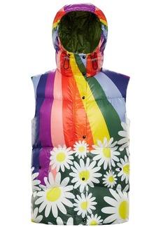 Richard Quinn Nylon Rainbow Down Vest