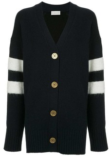 Moncler stripe detail cardigan
