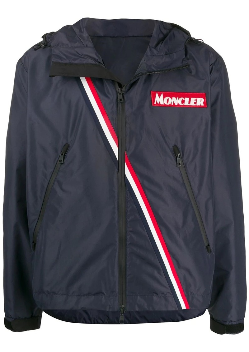 Moncler stripe detail sports jacket
