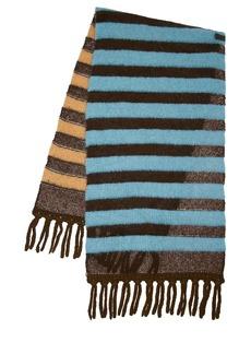 Moncler Striped Alpaca Blend Knit Maxi Scarf