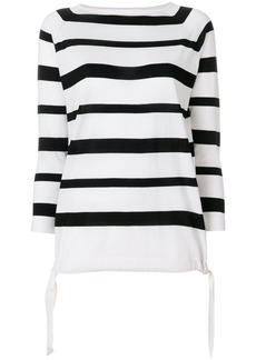 Moncler striped boat neck sweater