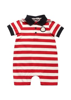Moncler Striped Cotton Jersey Romper