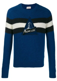Moncler striped detail knitted jumper