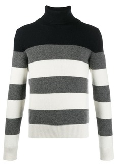 Moncler striped roll-neck jumper