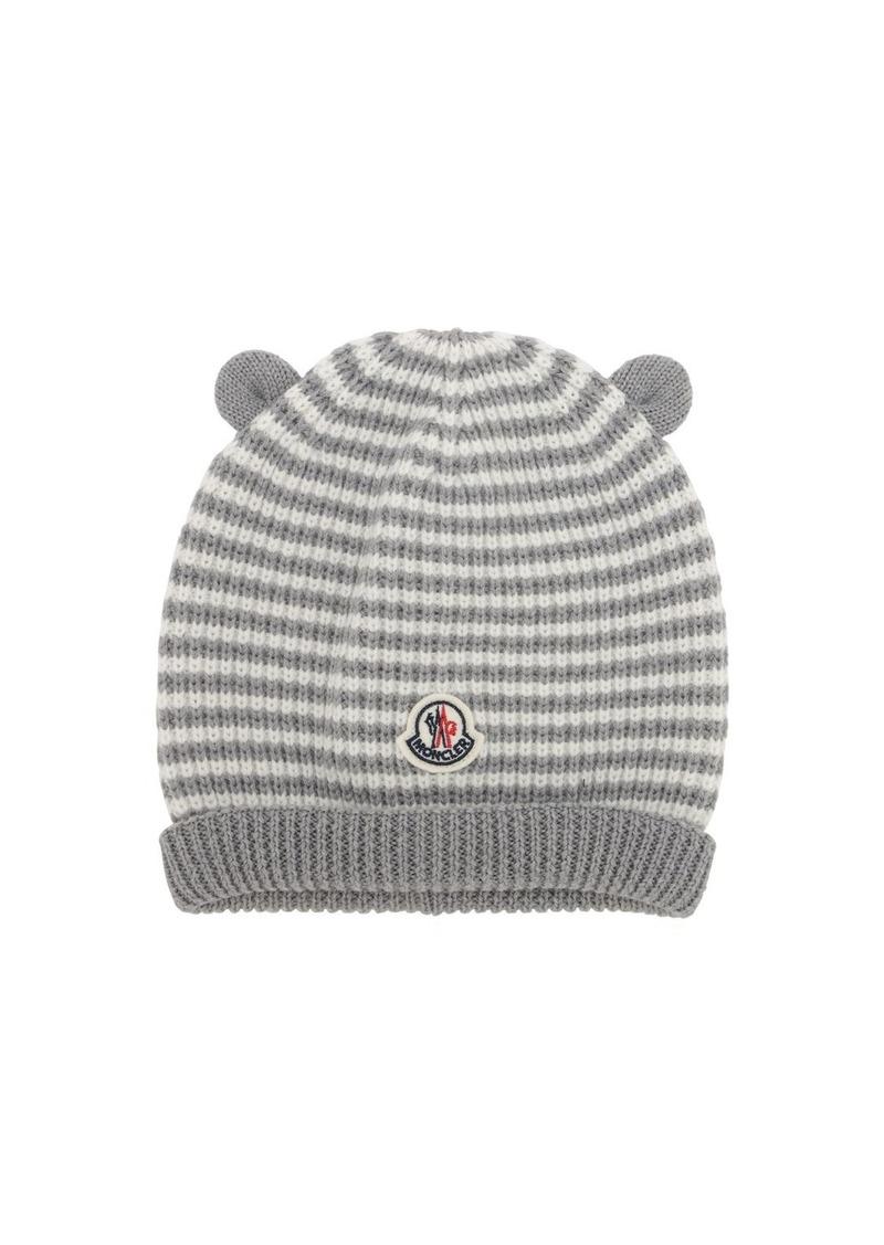 Moncler Striped Wool Hat