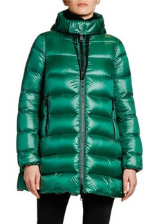 Moncler Suyen Hooded Zip Coat