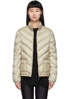 Moncler Taupe Down Lanx Jacket