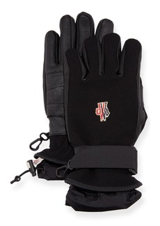 Moncler Technical Gloves w/ Leather