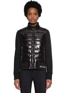 Moncler Techno Down & Cotton Blend Knit Jacket