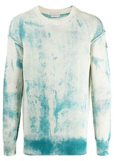 Moncler tie-dye cotton jumper