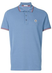 Moncler tri-tone trim polo shirt