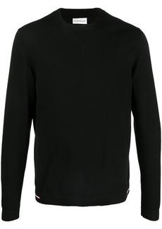 Moncler tricolour-detail crew-neck jumper