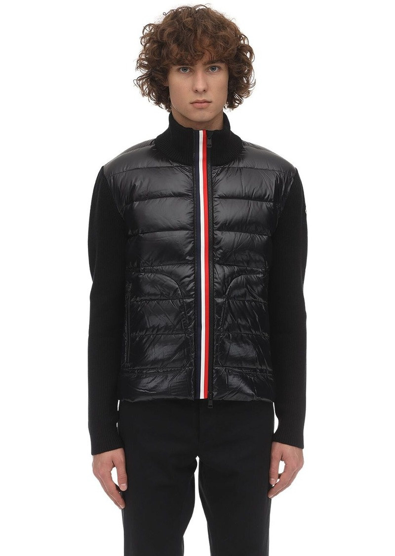 Moncler Tricot Knit Down Jacket