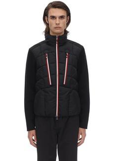 Moncler Tricot Virgin Wool Down Jacket