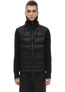 Moncler Tricot Wool Down Jacket