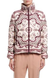 Moncler Turquin Printed Puffer Coat w/ Detachable Hood