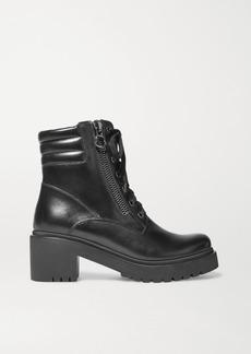 Moncler Viviane Leather Ankle Boots