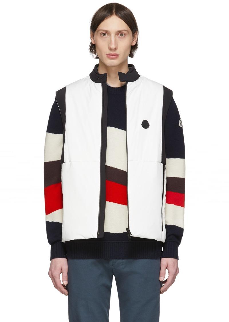 Moncler White & Black Down Chabod Vest