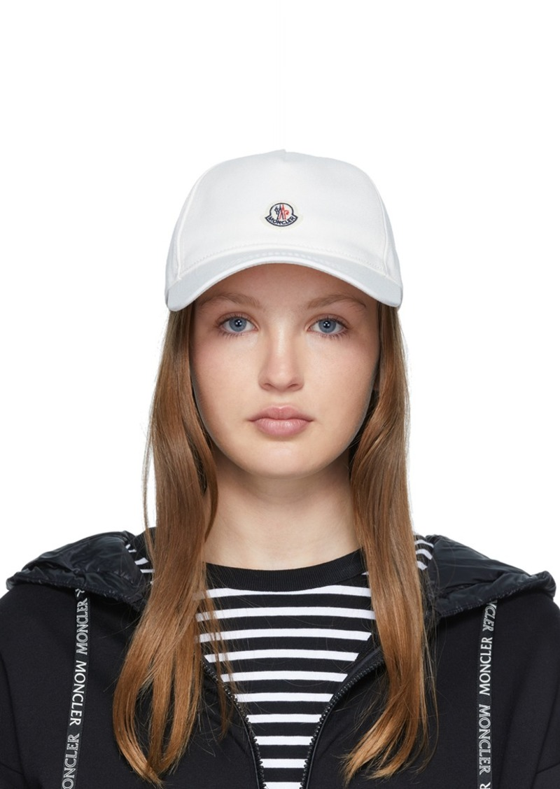 Moncler White Baseball Cap