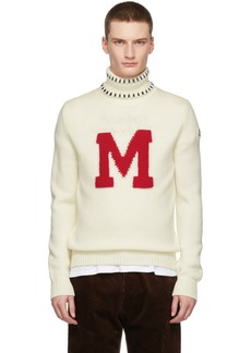 Moncler White Graphic Maglione Turtleneck