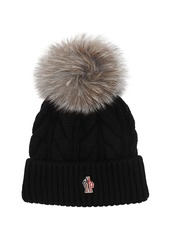 Moncler Wool & Cashmere Cable Knit Hat