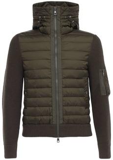 Moncler Wool Blend Tricot Down Jacket