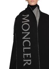 Moncler Wool Cape Laqué Nylon Down Jacket