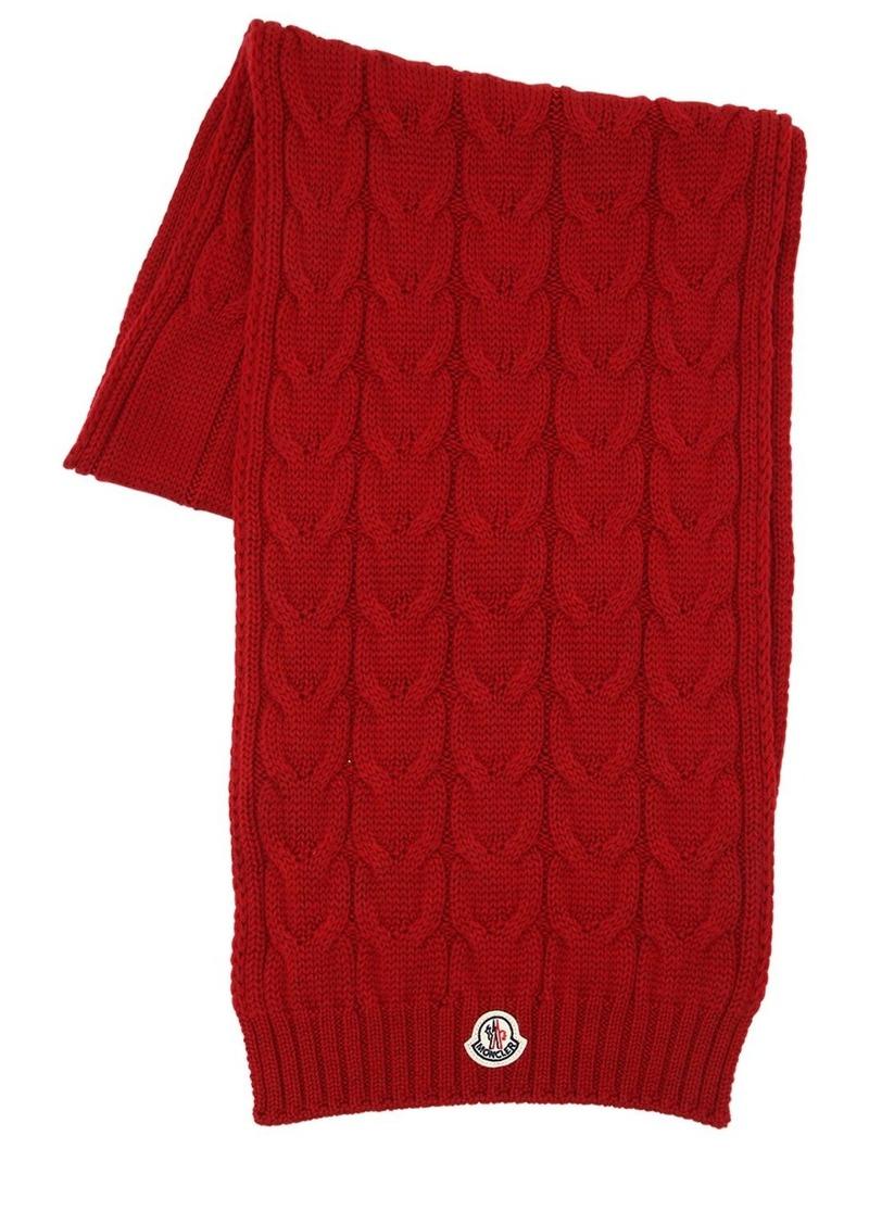 Moncler Wool Knit Scarf