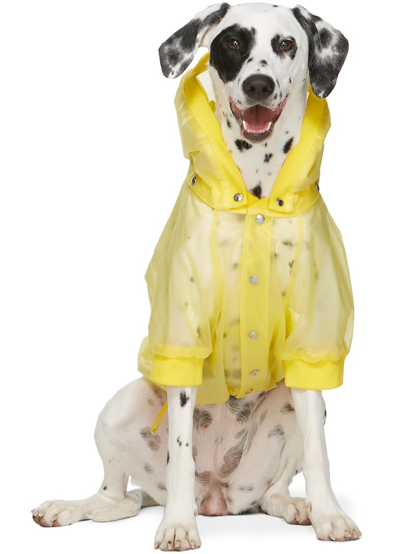 Moncler Yellow Poldo Dog Couture Edition Waterproof Coat