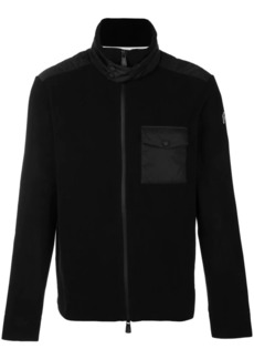 Moncler zip front chest pocket jumper