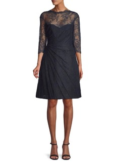 Monique Lhuillier Lace A-Line Dress