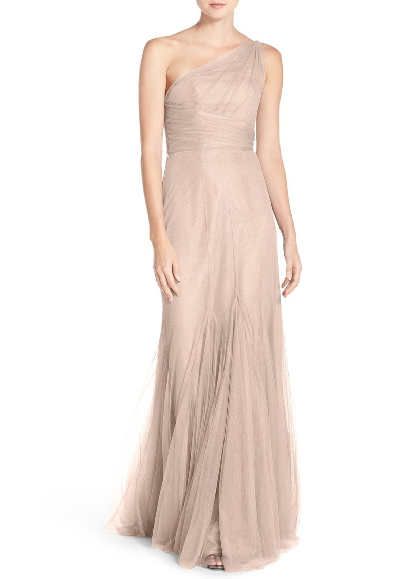 Monique Lhuillier Monique Lhuillier Bridesmaids One-Shoulder Tulle ...