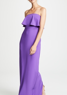 Monique Lhuillier Bridesmaids Paige Strapless Ruffle Gown