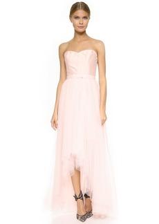 Monique Lhuillier Bridesmaids Strapless Dress with Removable Skirt