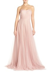 Monique Lhuillier Bridesmaids Strapless Tulle Gown