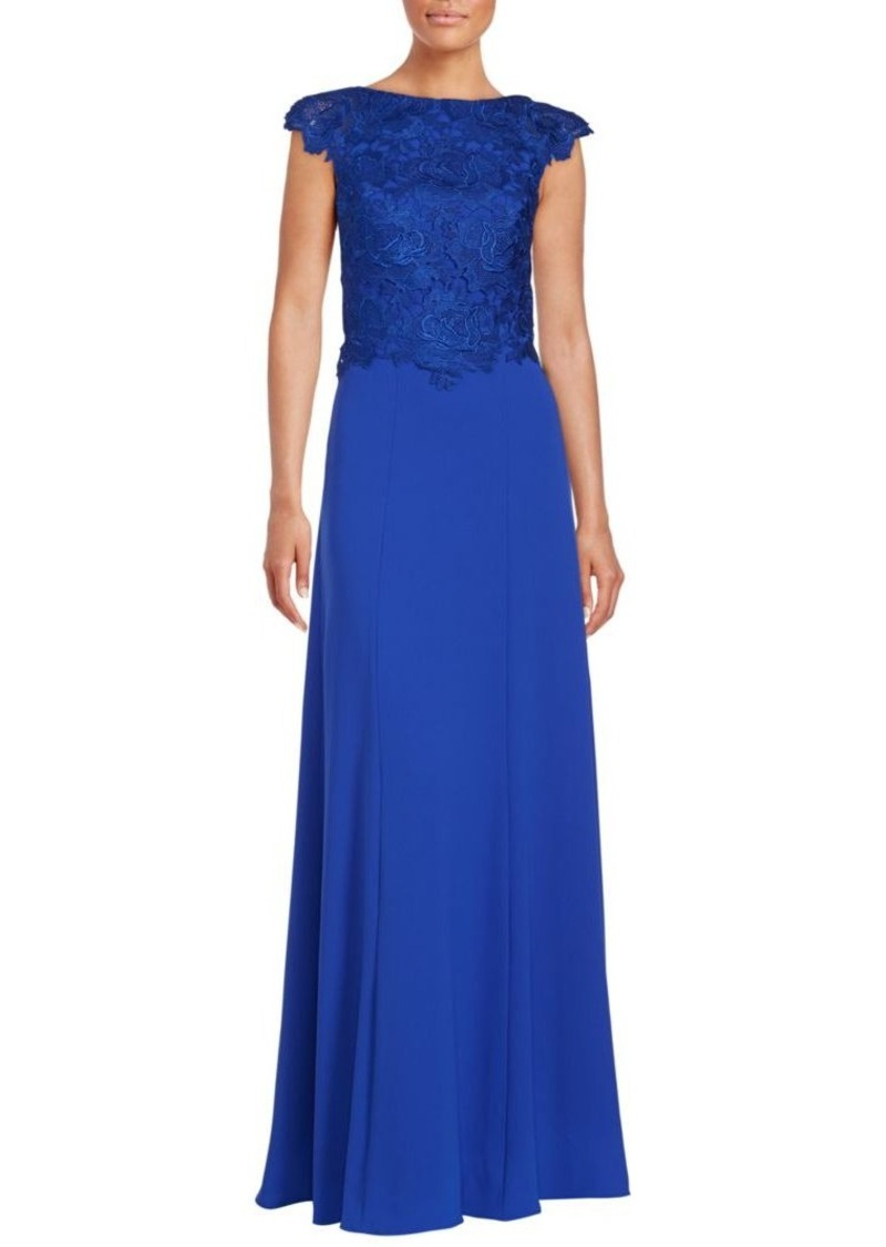 Monique Lhuillier Crepe Evening Gown