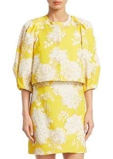 Monique Lhuillier Cropped Buttercup Jacket