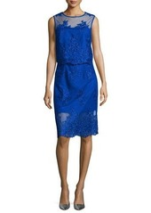 Monique Lhuillier Embroidered Two-Piece Cocktail Dress
