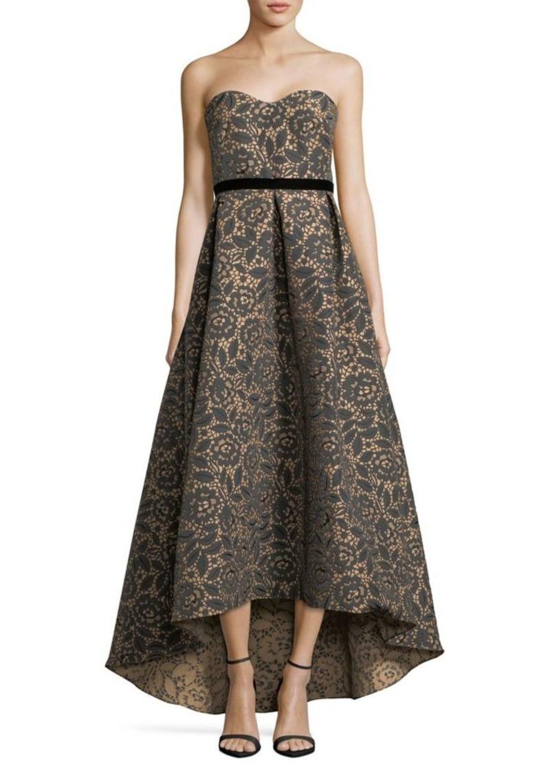 Monique Lhuillier Floral Jacquard Ball Gown | Dresses