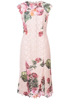 Monique Lhuillier floral lace dress - Pink & Purple