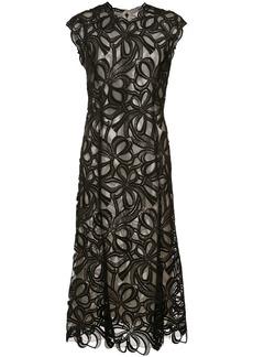 Monique Lhuillier Guipure lace ribbon dress - Black