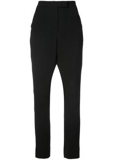 Monique Lhuillier high-waisted trousers - Black
