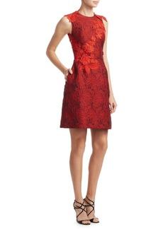 Monique Lhuillier Lace Back Dress