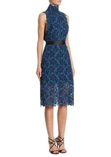 Monique Lhuillier Lace Cocktail Dress