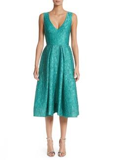 Monique Lhuillier Matelassé A-Line Dress