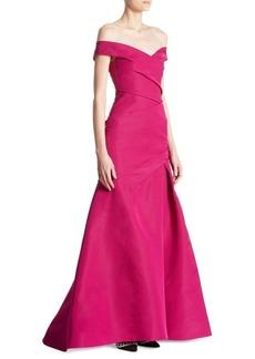 Monique Lhuillier Off -The-Shoulder Gown
